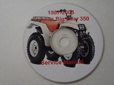 Yamaha Big Bear 350 YFM350 2wd + 4wd Service Repair Manual 4x4 atv1987-2005
