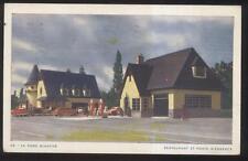 POSTCARD LA DAME BLANCHE ORLEANS CANADA RESTAURANT & GAS STATION 1940'S
