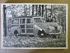 """12 By 18"""" Black & White PICTURE 1941 FORD Station Wagon Side View"""