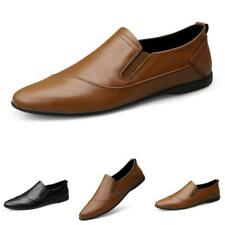 Mens Fashion Slip On Loafers PU Leather Business Work Driving Shoes Formal