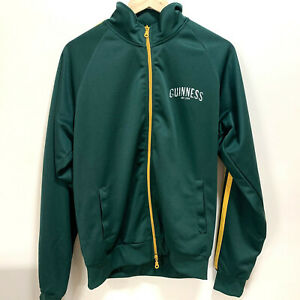 GUINNESS Official Track Top Jacket Green Yellow Stripes - Large - AUS SELLER