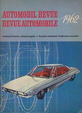 Libro annuario auto epoca automobilismo Automobil Revue 1962 vintage car book