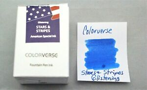 Colorverse Stars and Stripes Glistening 30ml Fountain Pen Ink