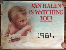 Van Halen Is Watching You 1984 Record Label Promo Poster 48x36-Excellent Cond.