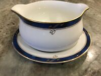 Sapphire by NIKKO Fine China GRAVY BOAT AND STAND, Patra,Thailand