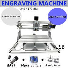 3AXIS USB CNC PCB Milling Router 2417 Desktop Engraver FräSe Graviermaschine