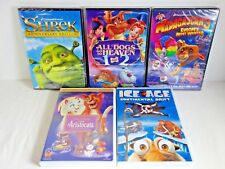 Shrek Ice Age All Dogs Go to Heaven Aristocats Madagascar Dvd Movie Lot of 5