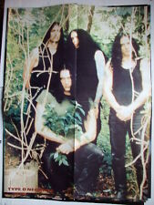 ►► BIG POLISH POSTER Type O Negative / Moonspell double sided metal Poland