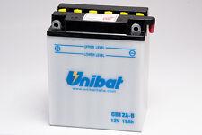 BATTERIA MOTO UNIBAT 12AH 12V CB12AB = CB12A-B BATTERIA MOTO HONDA TRANSALP ECC.