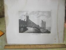 Vintage Print,WATER TOWER CHESTER,Grose's Antiquties England,c1790