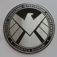 Avengers Marvel Agents of SHIELD Badge 3D Chrome Metal Car Sticker Emblem Decal.