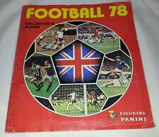 Vintage Panini : Football 78 Sticker Album : 100% Complete.
