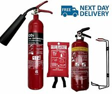 Small Cafe Food Van Mobile Kitchen Fire Safety Pack.2X Fire Extinguisher+Blanket