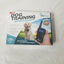 Pet Tech Dog Training Collar 1200 ft. Range Rechargeable 100%  Waterproof NIB