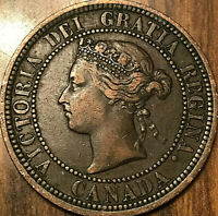 1882H CANADA LARGE CENT PENNY LARGE 1 CENT - Obverse#1 variety