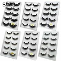 Shidi Shangpin 3D Mink Eyelashes Natural Beauty Full Strip False Lashes 5 Pairs