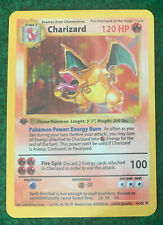 SHADOWLESS Charizard 4/102 Inspired ACEO Novelty Card 1st Edition READ! READ!