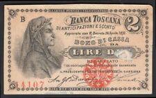 More details for italy; banca toscana. 2 lire. 1870. b 14107. gvf.