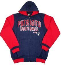 New England Patriots Extra Point Full Zip Hooded Sweatshirt(S)
