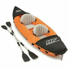 Bestway Hydro-Force Inflatable Kayak Lite Rapid X2 with Oars Canoe Rowing Boat..