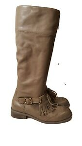 Anthropologie Lucky Penny Dawn Size 7 M Gray Tassel Boots Shoes For Women $258