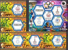 Chad 2015 History of Olympics Games Emblems 1968 - 1984 MNH** Privat !