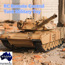 1:24 M1A2 RC Military Remote Control Plastic Battle Tank Vehicle Toy Model Car
