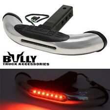 "Bully 1.25"" & 2"" Trailer Tow Hitch Step Receiver Cover for Truck LED brake light"