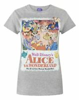 Alice In Wonderland Poster Grey Women's T-Shirt