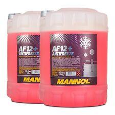 20 (2x10) Liter MANNOL Antifreeze AF12+ Frostschutz Fertiggemisch rot (-40°C)
