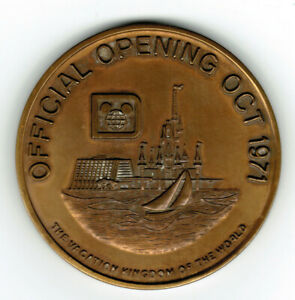 A Rare Original Walt Disney World Official Opening Oct 1971 Medallion LE #569