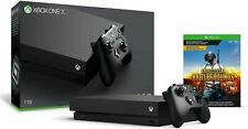 New Xbox One X 1Tb 4K PlayerUnknown's Battlegrounds Pubg Bundle - Black System