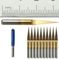 10 Degrees 3.175mm solid Carbide PCB Engraving CNC Bits Router Tool 0.1mm V-Shap