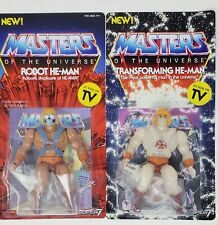 Masters of the Universe Lot of2  Transforming He-Man action figure& Robot He-Man