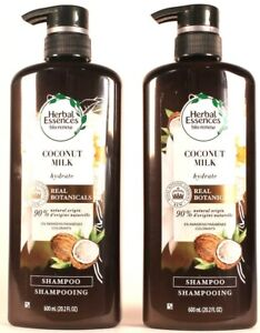 2 Count Herbal Essences Bio Renew Hydrate Clean Coconut Milk Shampoo 20.2 Fl oz
