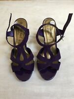 New Look Purple High Heeled Ladies Sandals (Wide Fit) Size 6