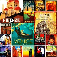 Italy Rome Fridge Magnet Poster Retro Vintage Cute Art City Photo gift Set 2