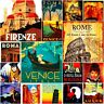 Italy Rome Fridge Magnet Poster Retro Vintage Cute Art City Photo gift Set 2