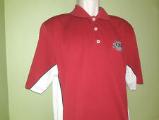 Golf Polo Shirt 2010 US Open Championship Pebble Beach Ashworth Mens Red Sz L
