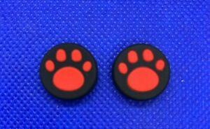 2 Thumbstick Controller Joystick Kappen Kappe für Nintendo Switch schwarz rot