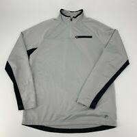 Fila Pullover Jacket Mens Size Medium Gray 1/4 Zip Base Layer Long Sleeve Knit