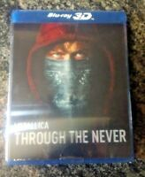 Metallica Through the Never Blu Ray 3D  2 DiscSet   lenticular cover bluray