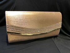 SATIN CHAMPAGNE  Ladies Clutch/Hand Bag Wedding,Prom,Evening Party.Great Quality