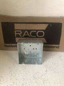 """(Set of 25) RACO 8232 Metal 4"""" X 2"""" Deep Square Electrical Boxes 6150908"""