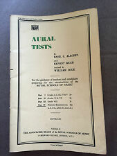 "1956 ""AURAL TESTS - PART IV"" SHEET MUSIC PAPERBACK BOOK"