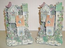 Tcr Bird House Heavy Bookends Resin Butterfly Cottage Book Ends