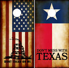 Cornhole Wraps Don't Mess With Texas Flag Rustic American Flag Don't Tread on Me