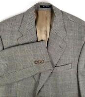 Chaps Ralph Lauren Sport Coat Size 42 Regular Black & Gray Glen Plaid Silk Blend