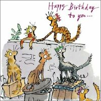 Cats Happy Birthday Quentin Blake Greeting Card Square Greetings Cards