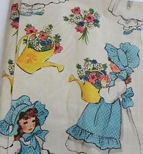 Vintage Wrapping paper Gift Wrap NOS Sealed Prairie Girl Flowers MCM 70's Bonnet